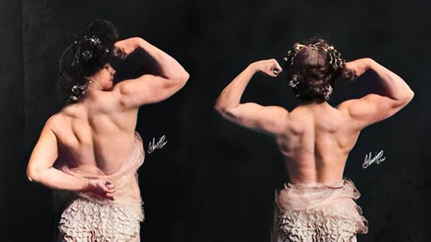 La mujer fisicoculturista, katie sandwina